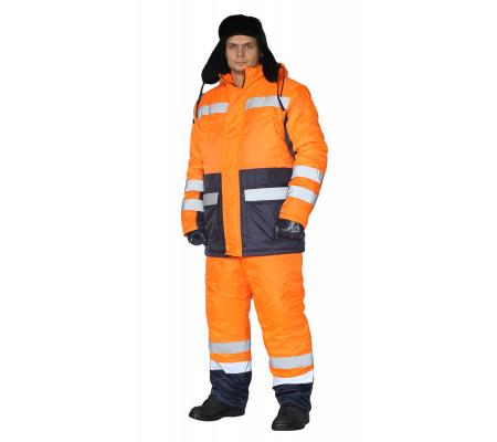 """Zimní pracovní souprava """"Skandin Silniční"""" (Tmavé Modrá/Oranžová)"""