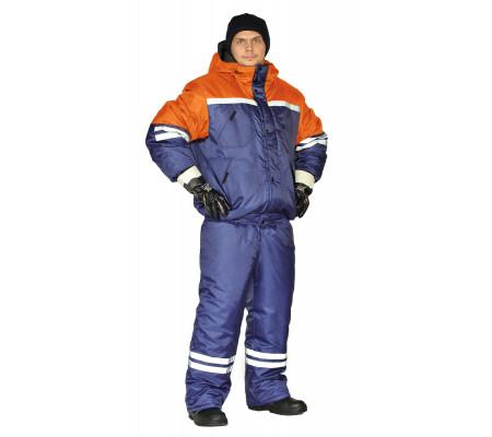 """Zimní pracovní souprava """"Stim"""" (Tmavé Modrá/Oranžová)"""