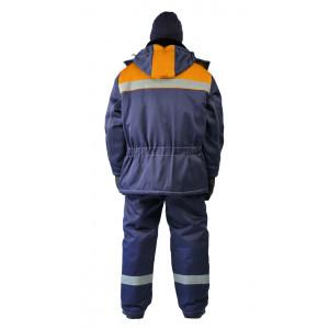 """Zimní pracovní souprava """"Metelice"""" (Tmavé Modrá/Oranžová)"""