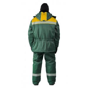"""Zimní pracovní souprava """"Metelice"""" (Tmavé Zelená/Žlutá)"""