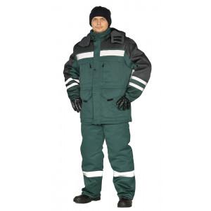 """Zimní pracovní souprava """"Zimník"""" (Tmavé Zelená/Černá)"""