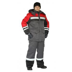 """Zimní pracovní souprava """"Zimník"""" (Tmavé Šeda/Černá/Červená)"""